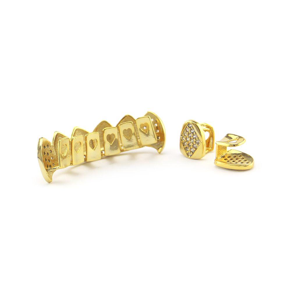 Explosive Gerätehersteller in Europa und die Metall-Schmuck mit Diamant-Gold-Set von Hip-Hop-Plattierung von Gold Set Auger Zähne zu verkaufen