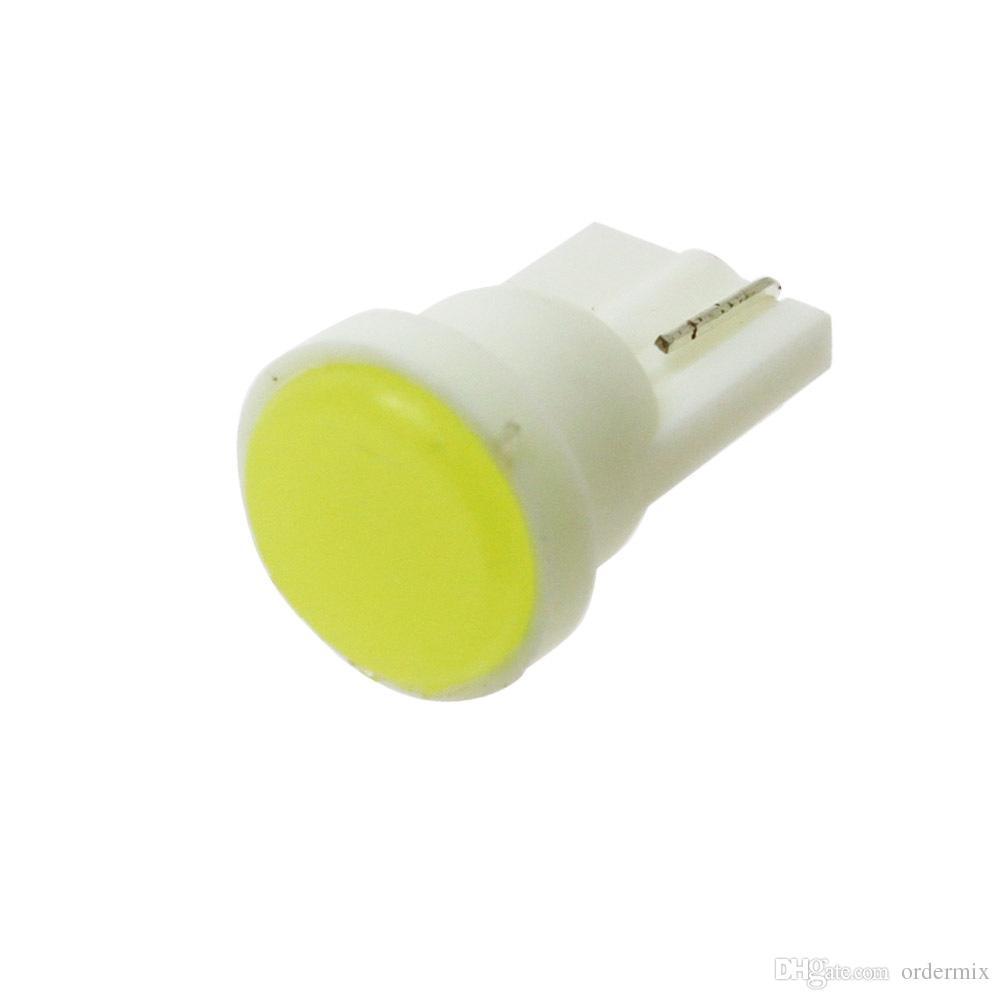 Cerámica Interior del automóvil LED T10 COB W5W 168 Instrumento de puerta de cuña Bombilla de luz lateral Lámpara de luz de automóvil Luz blanca / azul / verde / roja / amarilla