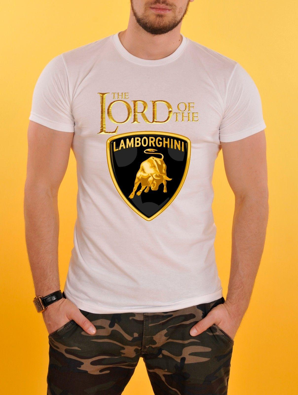 Wonderful The Lord Of The Lamborghini Logo Cars T Shirt White New Tee Shirt Site  Online Buy T Shirt From Sportswearing, $11.01| Dhgate.Com