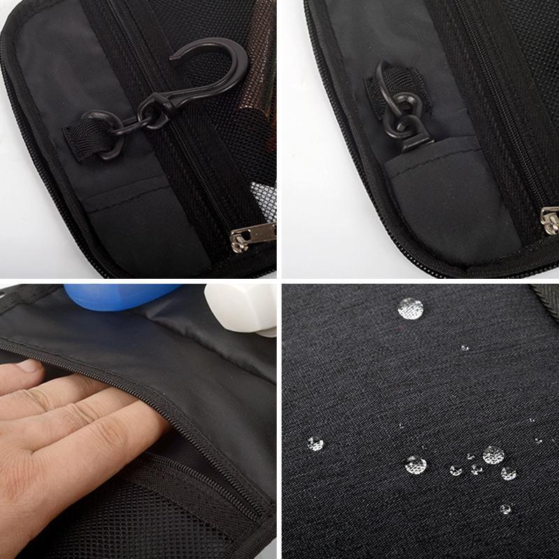 Sacchetto cosmetico pieghevole appendere articoli da toeletta il trucco da toilette Custodia uomo Borsa da viaggio portatile biancheria intima