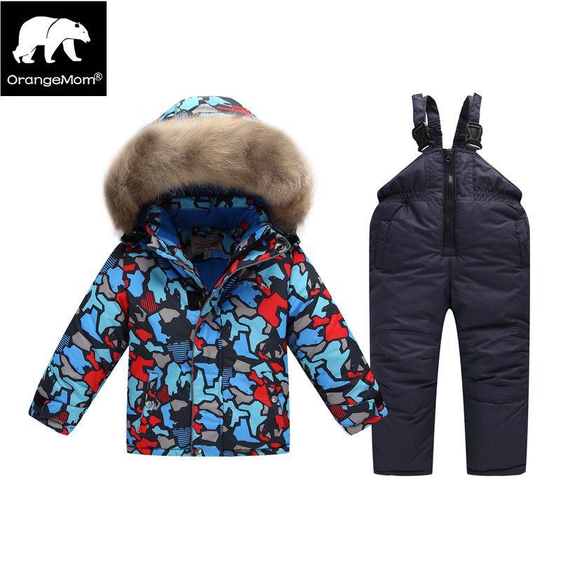 5a8105cca Orangemom Russian Winter Suit For Boy Windbreaker Children Snow Wear ...