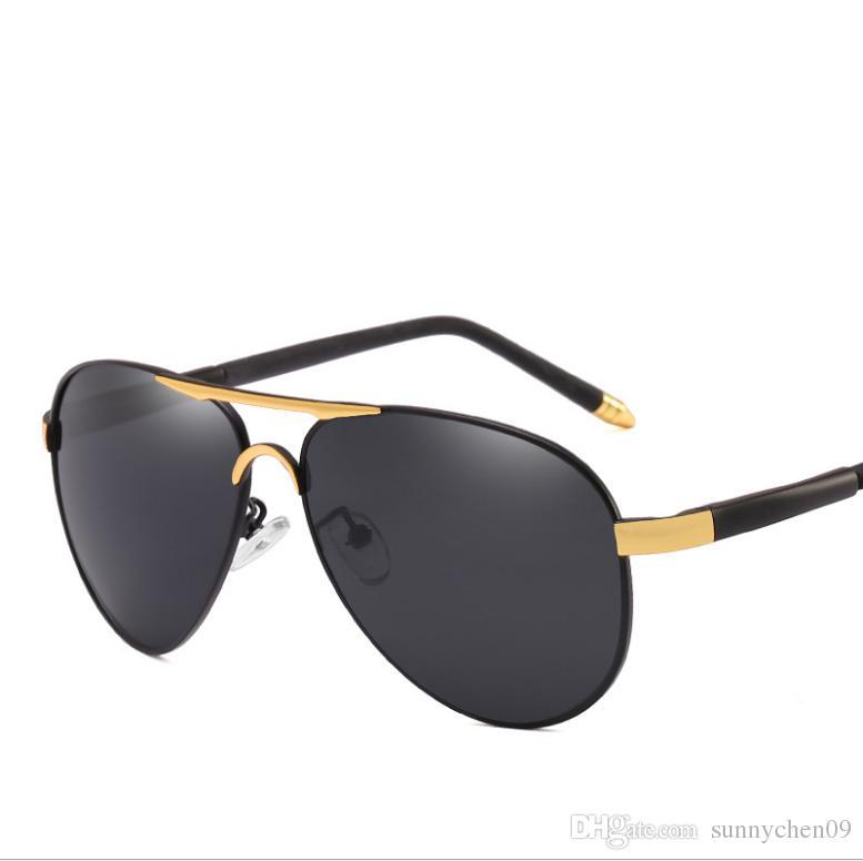 Compre New Fashion Pilot Gafas De Sol Polarizadas Para Hombre Mujer Con Montura  Metálica Espejo Polaroid Lentes Para Lentes De Sol Gafas De Sol Con Estuche  ... d3478f7e3f08