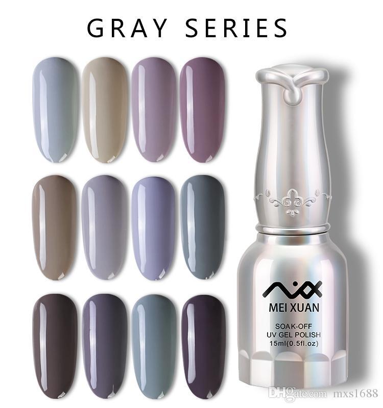 Gray Meixuan Nail Gel polish DIY Soak Off Gel UV Polish Nail UV Gel Polish  15ML Free Shipping
