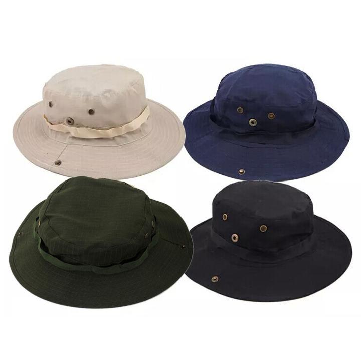 9bae86850f Compre Nueva Llegada Casual Ourdoor Sombrilla Sombrero Cap Homburg Viajes  Pesca West Cowboy Fashion Bucket Sombreros Para Hombres 10 Unids Envío  Gratis A ...