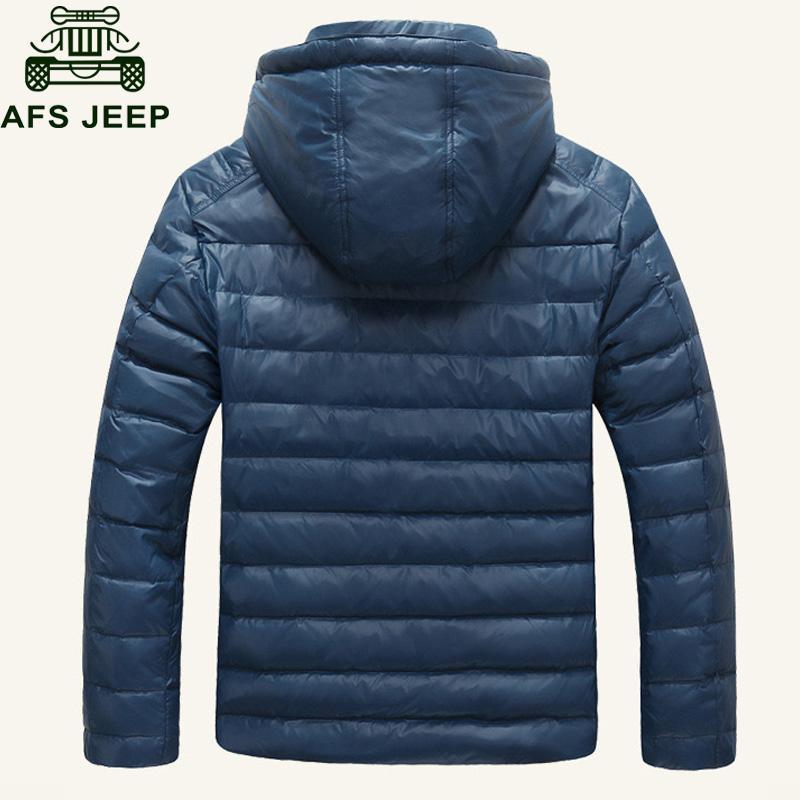Afs Jeep Brand Winter Jacket Men's Down Jacket White Duck Down Parkas Hooded Coat Mens Winter Parkas M-XXXL Chaquetas Hombre