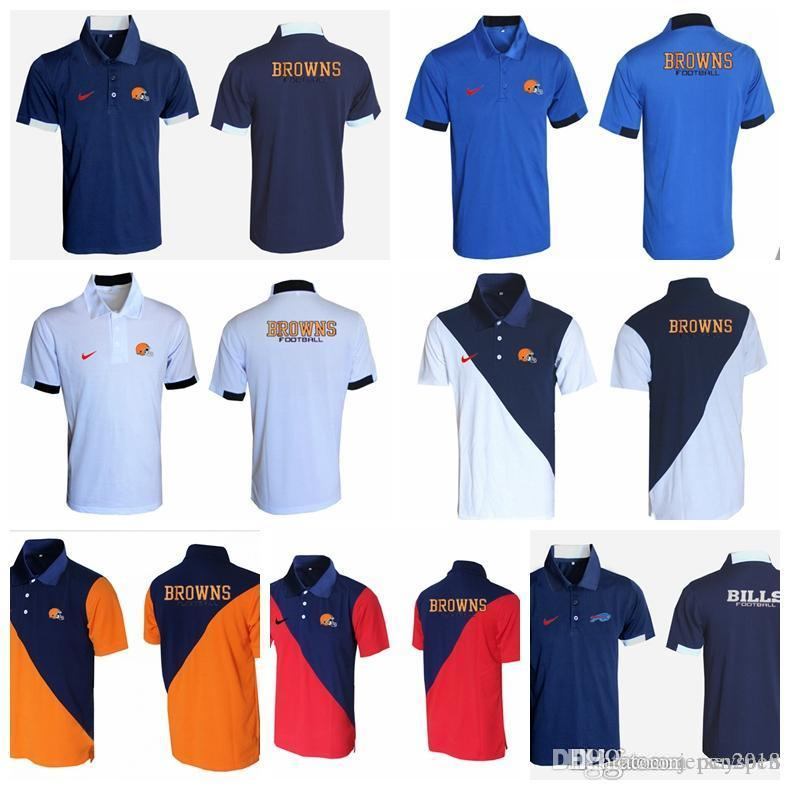 buy popular 3a2bf 1f8c5 2018 Men's New Rugby T-shirt Minnesota Houston Cleveland Browns Steelers  Bills Minnesota Vikings Evergreen Polo Various styles and colo
