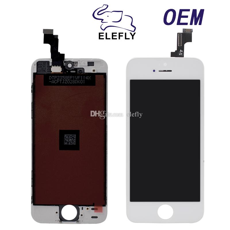 Original Quality For iPhone 5 5G 5S 5C SE LCD Display Replacement with Full Assembly and Frame Tested with Free Shipping