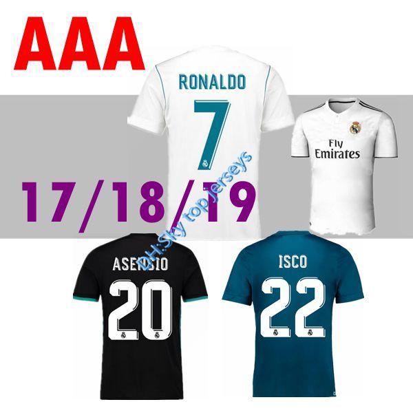 5b0715f1715c1 18 19 Camisetas De Fútbol En Casa Lejos Real Madrid Ronaldo 2018 2019 BALE  ASENSIO MARCELO KROOS ISCO BENZEMA Camiseta De Fútbol Camisetas De Fútbol  Por ...