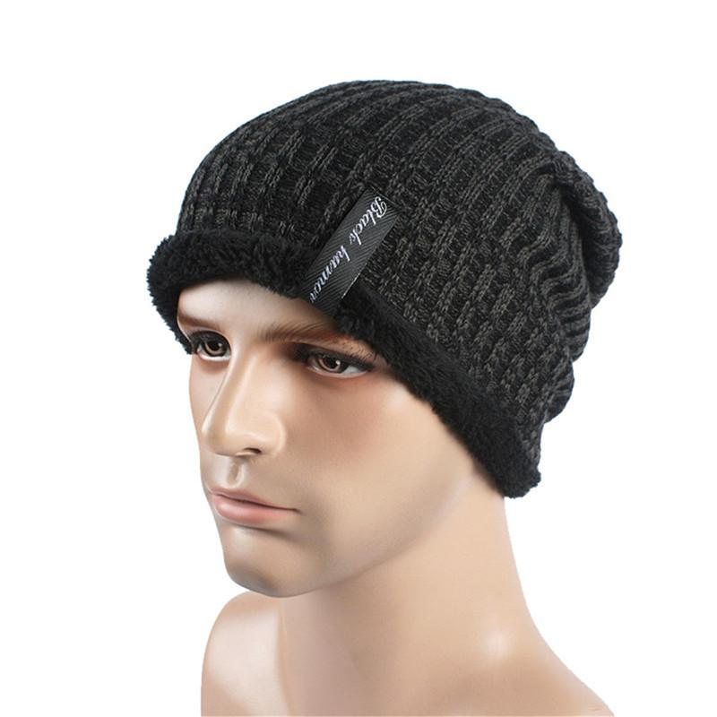 141a7f768cc 2019 Men Women Fashion Casual Solid Crochet Knit Baggy Beanie Wool Hat  Skull Winter Warm Chic Cap One Size For Children From Fwuyun
