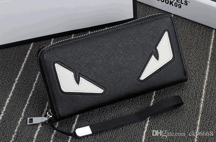 2019 nuovo mens di modo del progettista del caffè portafoglio in pelle lungo portafoglio di lusso in pelle cartella cartella uomini di alta qualità borse denaro