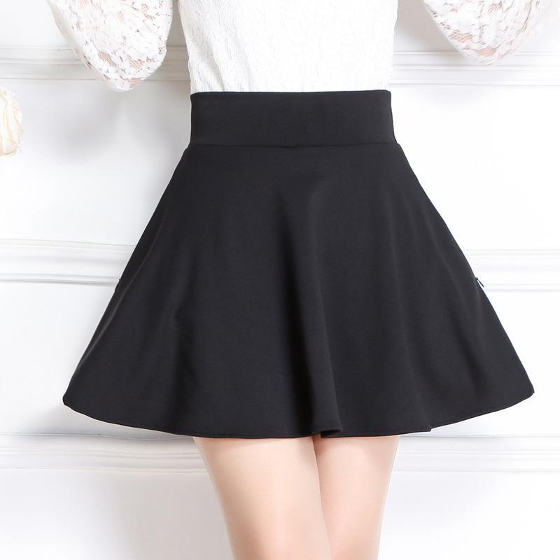 58ca95b1a Nuevo estilo falda de una línea falda corta falda plisada de verano y  primavera para mujer maternidad con bolsillo Falda