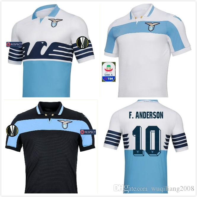 469925f7c 2019 2018 19 LAZIO Soccer Jersey Home Away BERISHA 93 F.ANDERSON 10 2018  SERGEJ 21 2019 Lazio Jersey LUIS ALBRTO 18 Football Shirts Best Quality  From ...