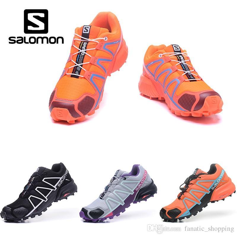 100% authentic f4645 4b98f Großhandel Großhandel Salomon Speedcross 4 IV CS Trail Laufschuhe Damen Orange  Blau Geschwindigkeit Kreuz Outdoor Wandern Sport Turnschuhe Von ...