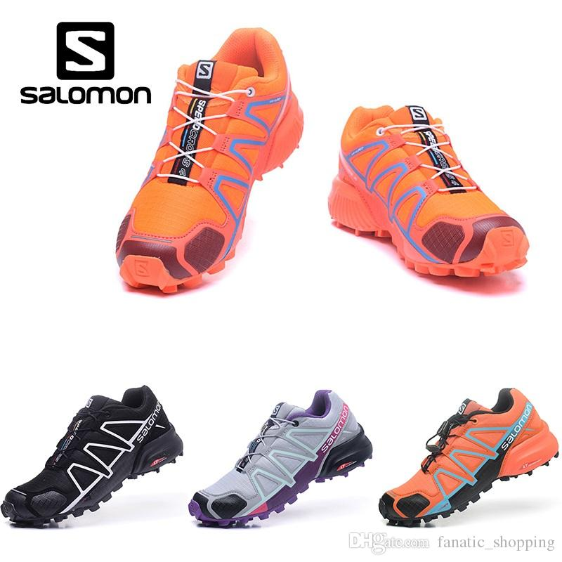 772852cdaab2 Wholesale Salomon Speedcross 4 IV CS Trail Running Shoes Womens Orange Blue  Speed Cross Outdoor Hiking Sports Sneakers Skechers Running Shoes Best  Trail ...