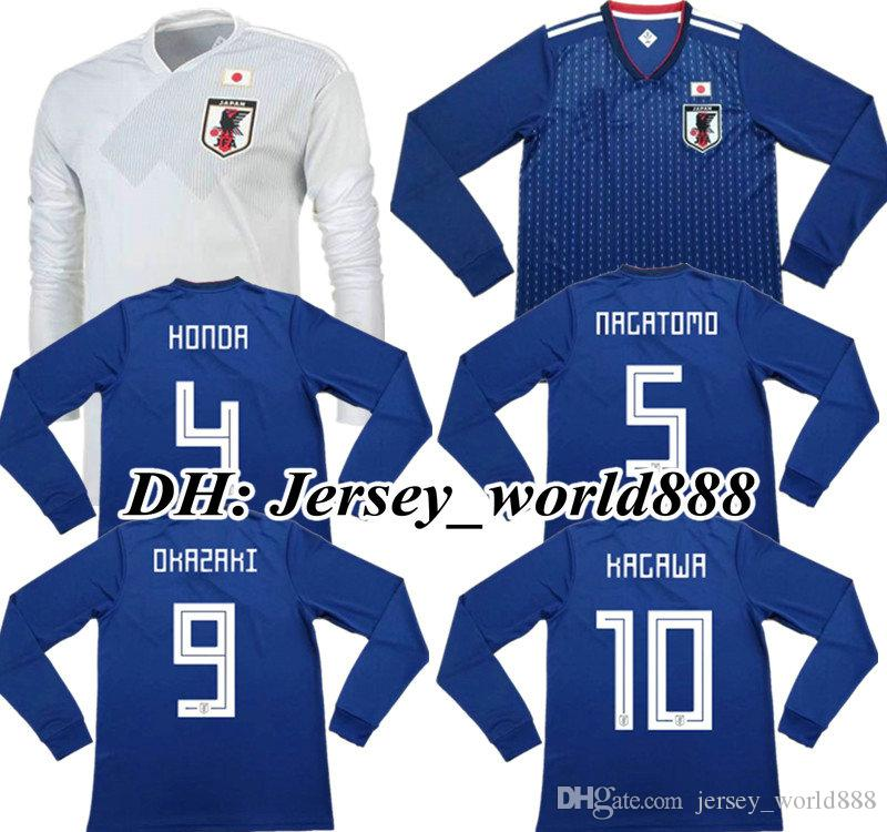 TOP QUALITY 2018 World Cup Japan Home Blue Soccer Jersey Long Sleeves 2017 OKAZAKI  KAGAWA HASEBE NAGATOMO 18 19 Japanese Away Football Shirt UK 2019 From ... 7e6eb29af