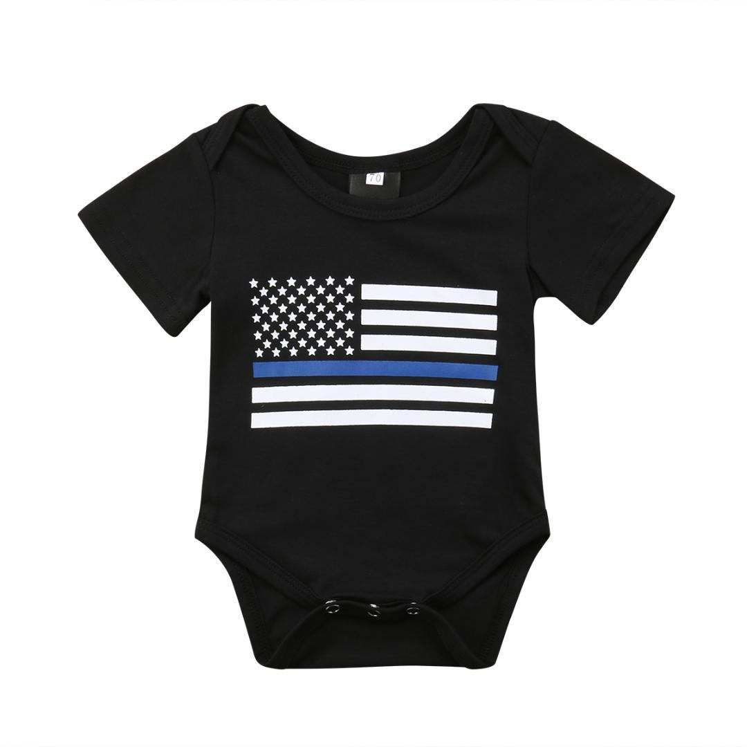 34238fdc1336 2018 Infant Baby Girls Short Sleeves Bodysuit Boys Jumpsuit Outfit ...
