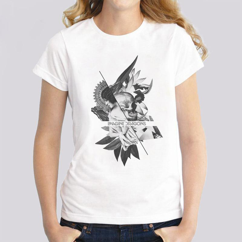 Acquista Immagina Dragons T Shirt Donna 2018 Moda T Shirt A Maniche Corte Taglie  Forti Magliette Donna Stampa Top O Collo Donna A  14.07 Dal Baxiagogo ... 4dd6b4dc263