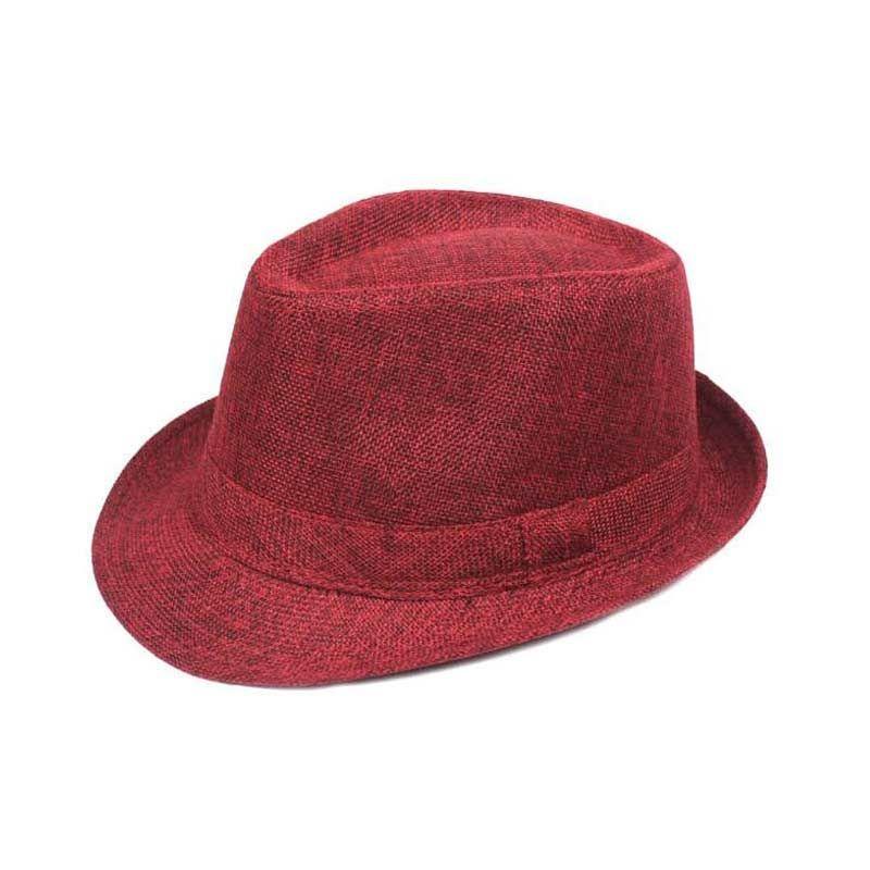 339cf8dbe0b Adult Unisex Hat Chapeau Panama Jazz Church Cap Short Brim Outdoor Beach Sun  Mens Hats And Caps For Men Summer Fedoras Hat Women UK 2019 From Gerry li