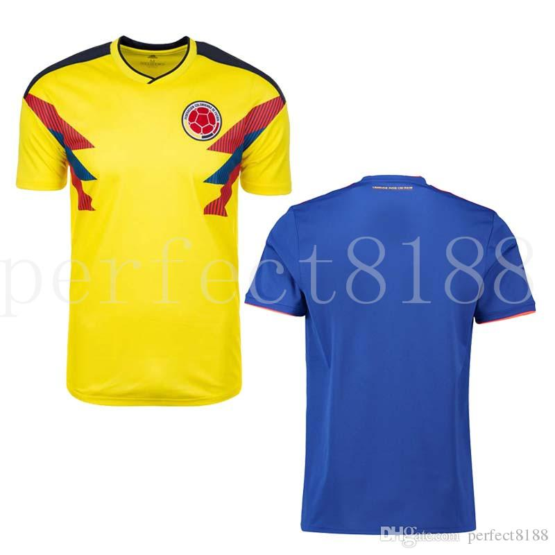 2018 World Cup Men Football National Team Home Away Jerseys Shirts Columbia  10 JAMES 9 FALCAO 11 CUADRADO OEM OBM ODM Custom Soccer Clothing UK 2019  From ... eeb3ab0f6