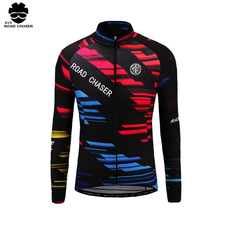 Spring And Winter Mens Long Sleeve Cycling Jerseys Colorful Bike ... 91ee2e018