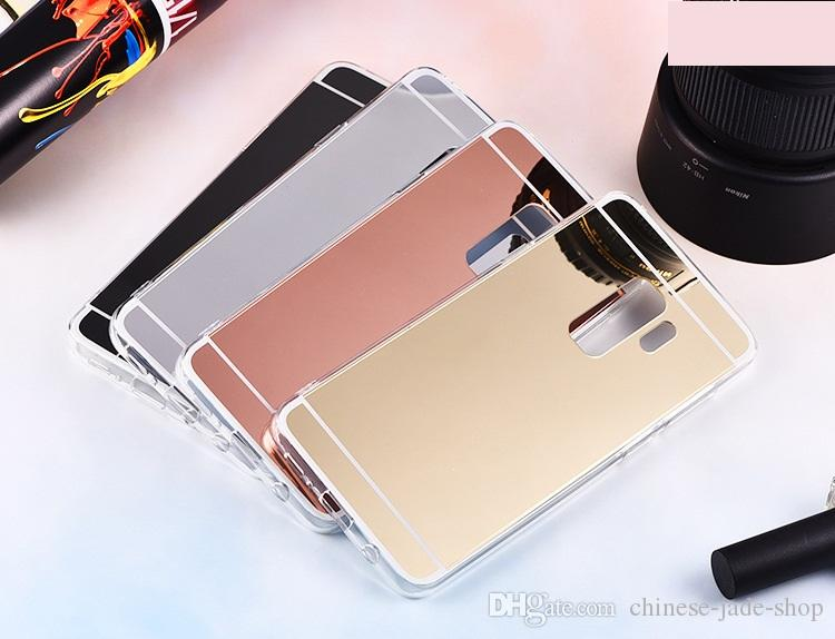 Mirror Case Electroplating Chrome Soft TPU Cover for For Samsung Galaxy S9 S9 PLUS J4 2018 J6 2018 J2 PRO 2018 note 9