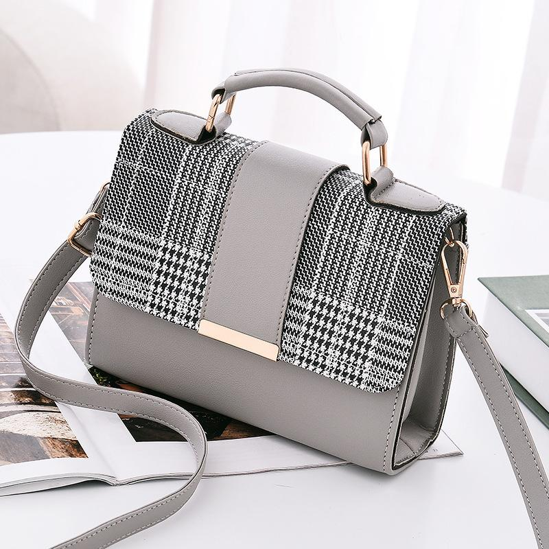 b96b8dfa6560 2066 2 New Women S Bag Single Shoulder Bag Korean Edition Fashion Check  Small Package Ms. Pu Tide Pack One Hair Duffle Bags Messenger Bags For Men  From ...