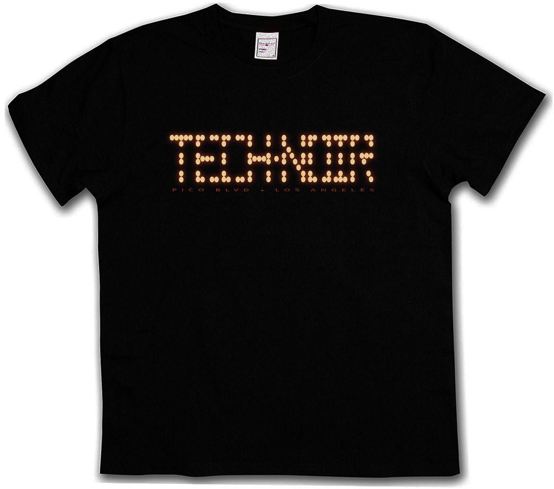 TECH NOIR LOS ANGELES CLUB T-SHIRT - Terminator Technoir Cyber Movie TV  T-Shirt Funny free shipping Unisex Casual tee gift