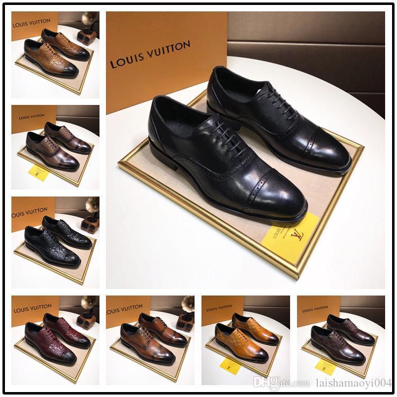 Acquista 2019 Italia Marchio Mens Scarpe A Punta Vestito Scarpe Di Marca Di  Lusso In Pelle Di Design Italiano Scarpe Da Uomo Vestito Da Promenade A   105.12 ... e50b84d2cba