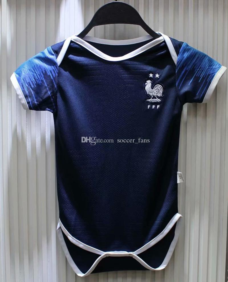 2019 2018 World Cup Champion France Home 2 Stars 10 MPAPPE Argentina Home  10 Messi 6 18 Months Baby Short Sleeved Shirt Football Jersey From  Soccer fans 2e2db85e7