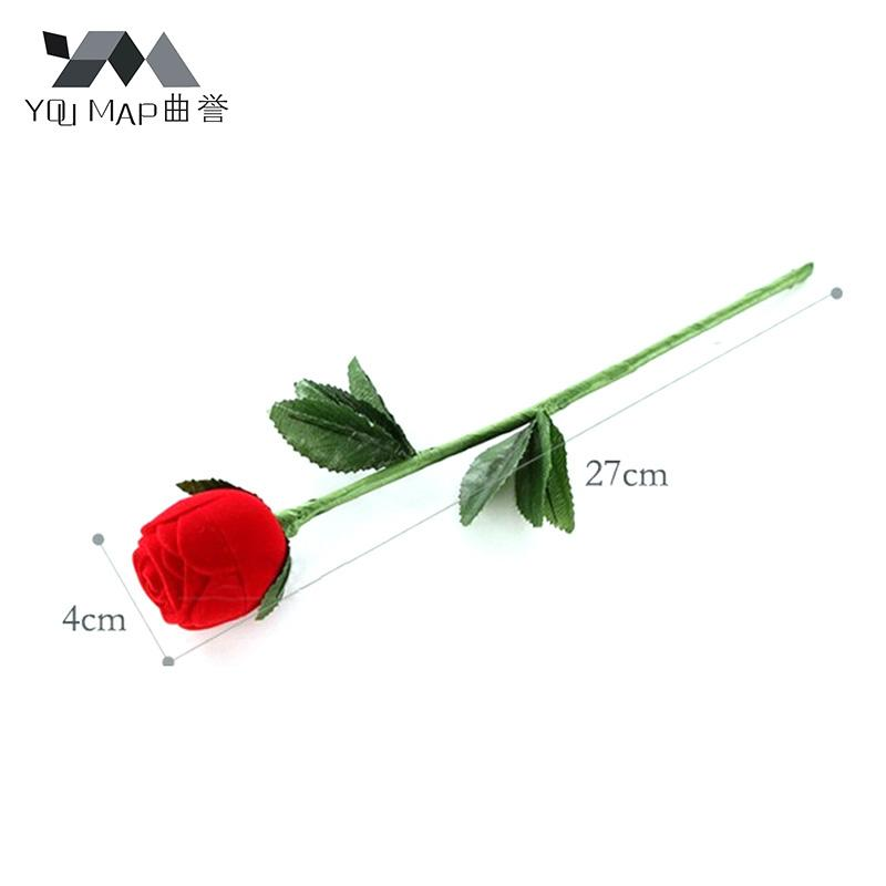 2017 New Creative Red Rose Flower Propose Ring Jewelry Box Earring Storage Jewellry Organizer Gift Case X7R6