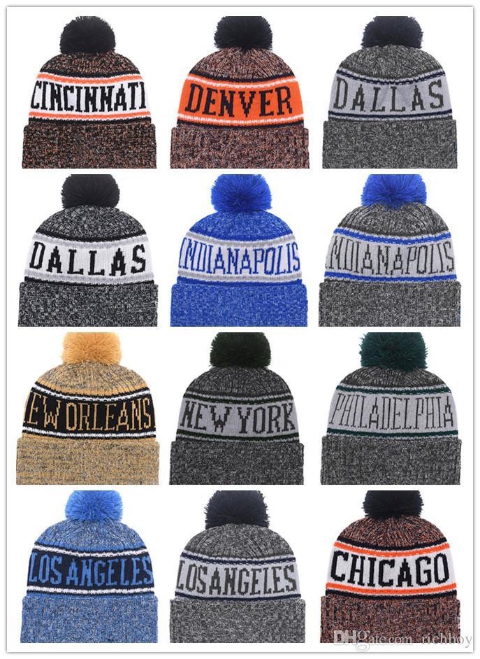 2018 Newes Football Winter Beanie Hats For Men Women Sports Team Knitted  Beanie Wool Basketball Hat Man Bonnet Gorros Touca Thicken Warm Cap Beanie  Boo ... b2ed13fd56
