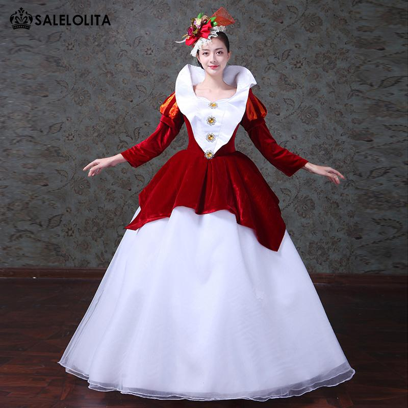 aed28e81883 2018 Red Snow White Princess Dress Renaissance Southern Belle Marie  Antoinette Masquerade Dresses Theater Costume Original Halloween Costumes  Girls Costumes ...