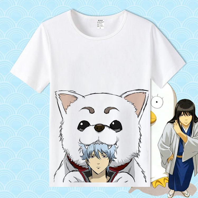 Fashion T Shirt Men for Anime GINTAMA Sakata Gintoki Kagura Cosplay O-Neck Printed Women T-shirts Short Sleeve Tops Tee