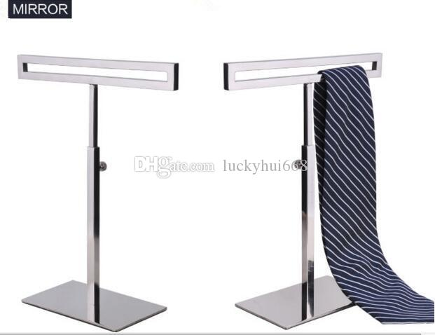 Boutique display prop high quality stainess steel tie display stand fashion Men's Necktie women's silk scarf holder wig purse display rack