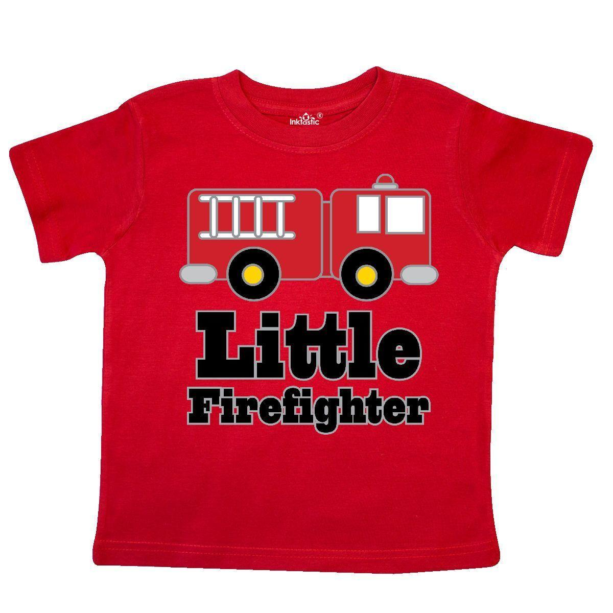 dc2dcfbd2 Inktastic Little Firefighter Fire Engine Toddler T Shirt Firetruck Fireman  Kids Funny Unisex Casual Tee Gift Shirts T Funky T Shirts For Women From ...