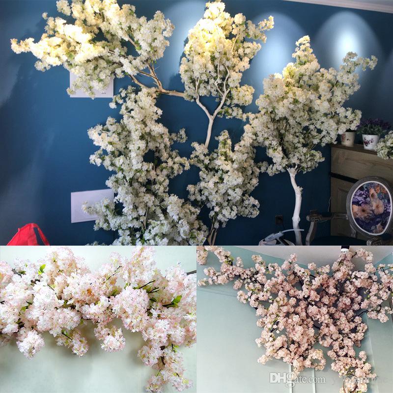 Yapay kiraz çiçeği çok renkli isteğe bağlı düğün dekorasyon sakura 39 Inç 100 cm uzun ücretsiz kargo DHL
