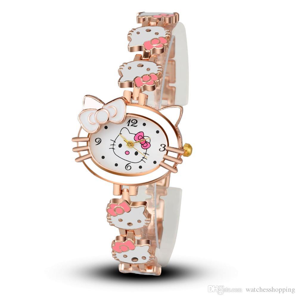 161c671c92fb Compre Mujeres Niño Cartoon Pulsera Reloj Hello Kitty Moda Casual Vestido  De Cuarzo Reloj De Pulsera Mujer Mujer Relojes Venta Caliente Kid Reloj A   2.29 ...