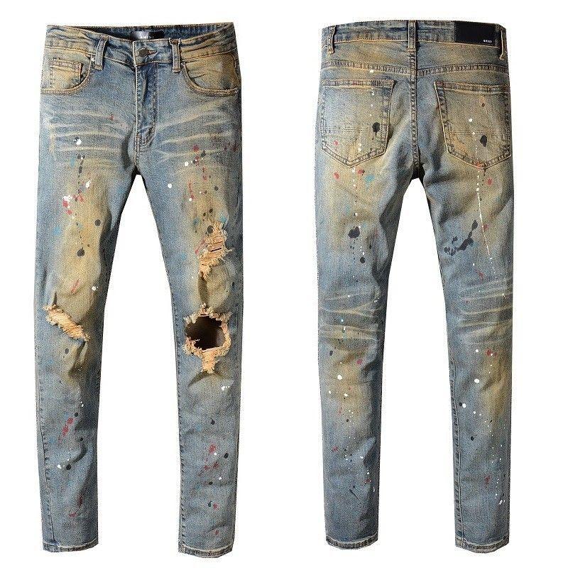 Compre 2018 Nuevos Hombres De Otoño E Invierno Tendencia Pies Delgados  Pantalones Vaqueros Elásticos   556 A  56.1 Del Qinzhixuan01  cbab8e596ea