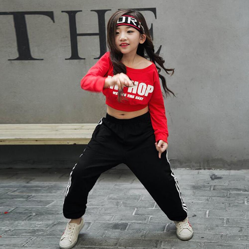 Compre Girls Red Loose Ballroom Jazz Hip Hop Trajes De Baile Trajes Blusas  Recortadas Camisa Para Niños Ropa De Baile Moderno Trajes De Ropa A  34.66  Del ... d46887b5ec0