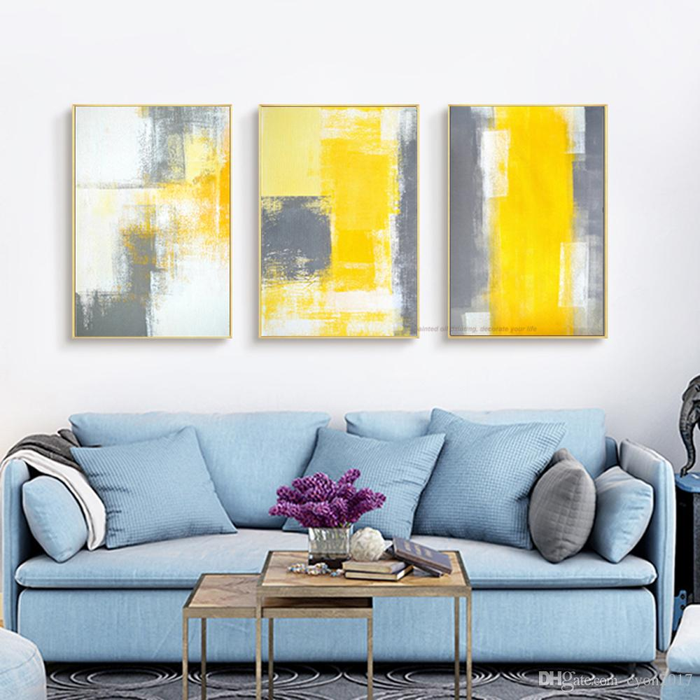 Atfart Living Room Hall Wall Art Handmade Landscape Oil: 2019 Canvas Painting Abstract Oil Painting Handmade Bright
