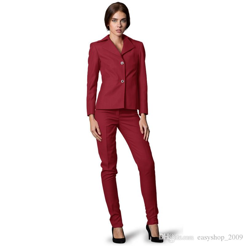 Custom Made Women Business Suits Single Breasted Formal Women's Office Unifrom Ladies Pants Slim Suit Jacket + Pants