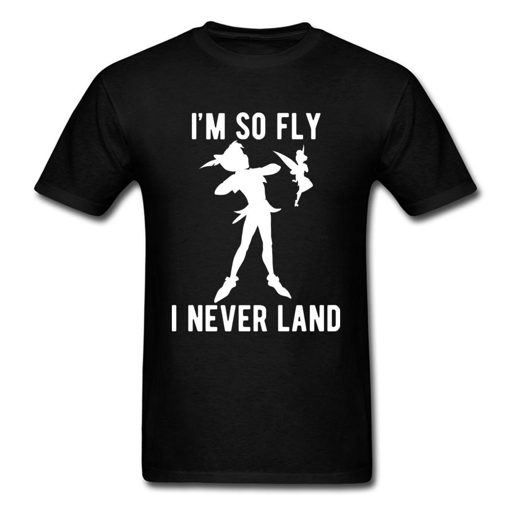 size 40 28928 c89ca Peter Pan Never Lands Lustige T-Shirt Männer Kleidung Sommer / Herbst  T-Shirt Reiner Baumwolle Tops Shirts Neueste personalisierte Top T-Shirts