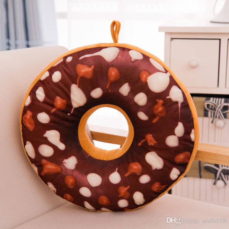Creativo de Dibujos Animados Donuts Cojín Sofá Silla Almohada Decorativa Moda Plush PP Algodón Almohada Juguete de Regalo 40 CM Envío Gratis HH7-796