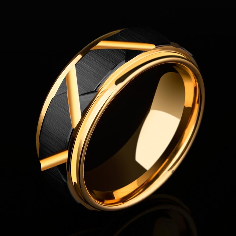 2018 New Arrival 8mm Width Tungsten Carbide Wedding Ring Black