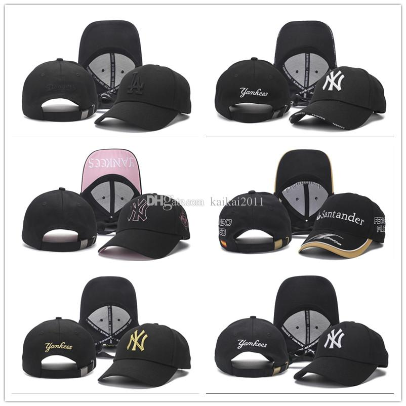 2018 Baseball Cap NY Embroidery Letter Snapback Hats Back Hole Cheap Hat Outdoor Men&Women Wholesale Fitted Black Sports Caps Can Mix Orders