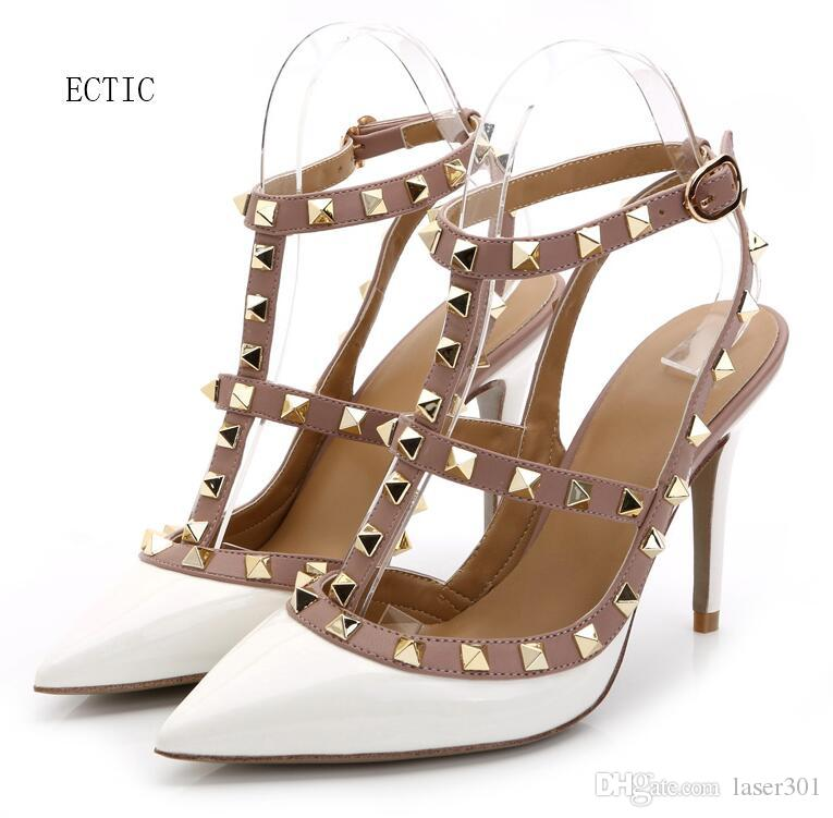 e6e57f3db6db8 Home≫ Shoes   Accessories≫ Dress Shoes≫ Product Detail Women High Heels  Dress Shoes Party Fashion Rivets Girls Sexy Pointed Toe Shoes Buck Cheap  Shoes ...