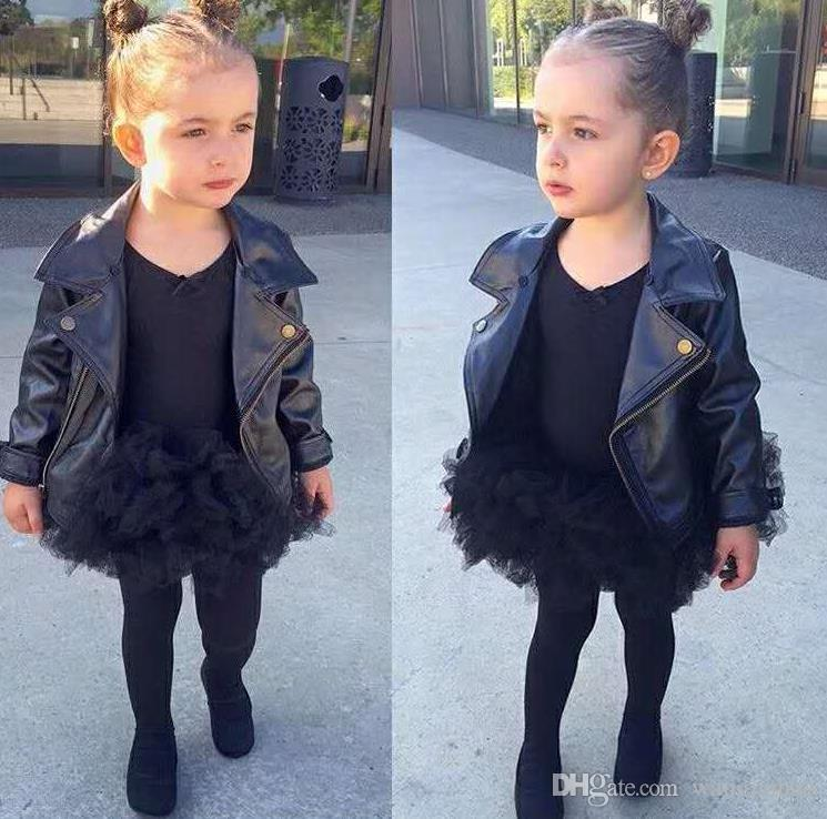 Girl Clothes GirlS Faux Leather Look Jacket Size 2 7 Motorcycle
