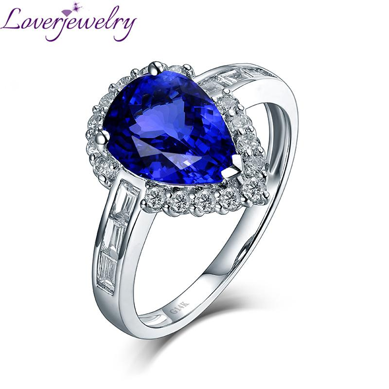 a0f065344 2019 Elegant Pear Tanzanite Luxury Diamond Anniversary Ring Real 14Kt White  Gold For Wife Mom Birthday Fine Jewelry Christmas Gift S923 From Ruiqi08,  ...