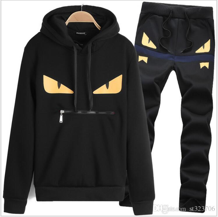 Men Sportswear Hoodies Set Spring Suit Clothes Tracksuits Male Sweatshirts Coats Polo Track Suits Joggers Plus Size autumn