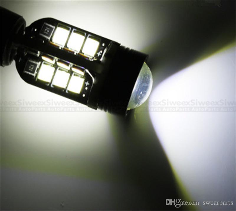 Высокая мощность супер белый T15 24-SMD 2835 921 W16w Клин LED тормозной стоп лампы резервного сигнала поворота обратный свет CANBUS